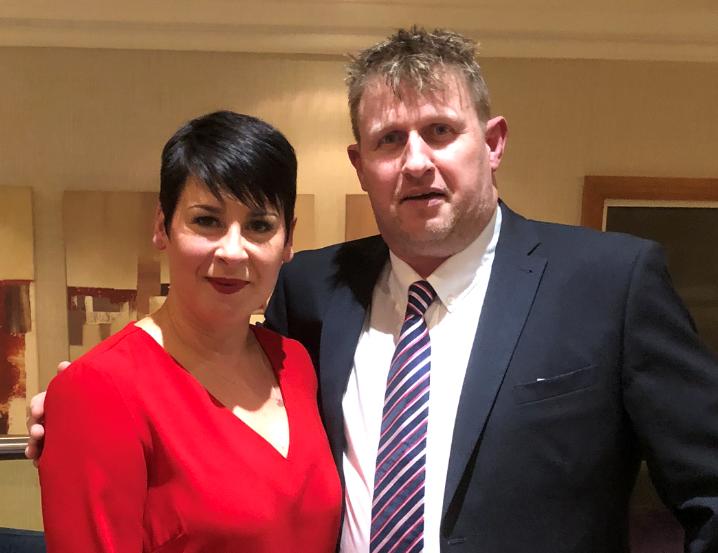 Emma Sharp, left, sales director with new Pest editor Simon King
