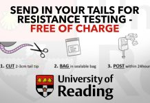 Send in your tails for resistance testing