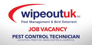 JOB VACANCY - PEST CONTROL TECHNICIAN